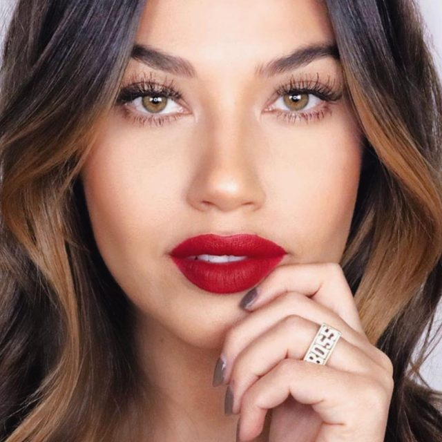 The beautiful simplicity of passionate red lips with a mascaraonlyhellip